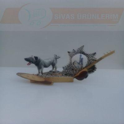 Kangal köpeği, Saz ve Çifte Minareli İsim Yazılabilir Biblo