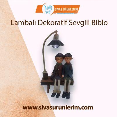 Lambalı Dekoratif Sevgili Biblo