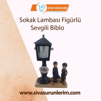 Sokak Lambası Figürlü Sevgili Biblo