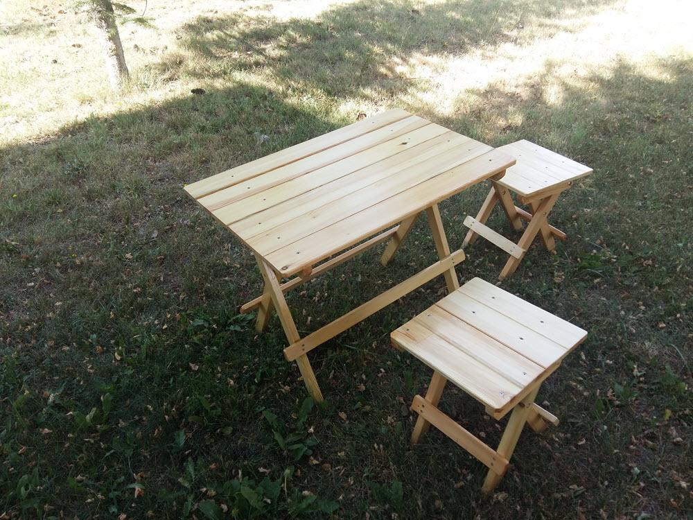 Ahşap Katlanır Piknik Masa Takımı