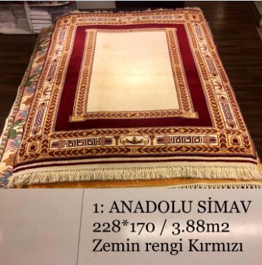 Anadolu Simav El Dokuma Halısı 1