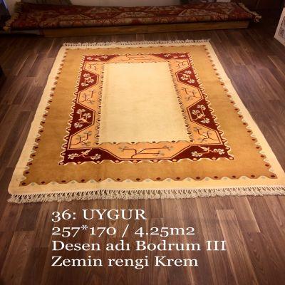 Uygur El Dokuma Halısı 36