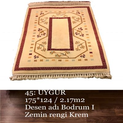 Uygur El Dokuma Halısı 45