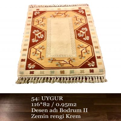 Uygur El Dokuma Halısı 54