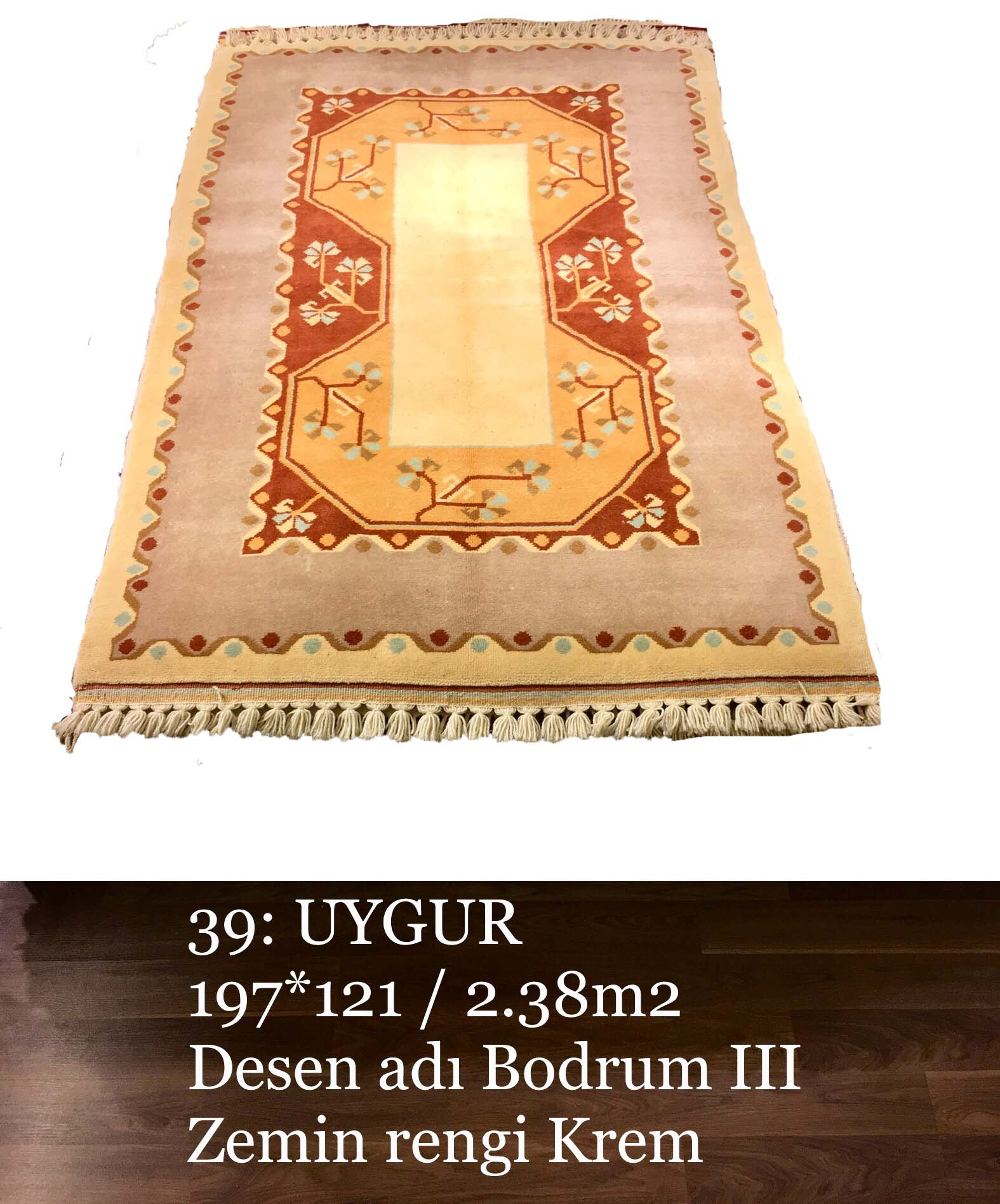 Uygur El Dokuma Halısı 39