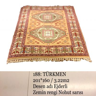 Türkmen El Dokuma Halısı 188