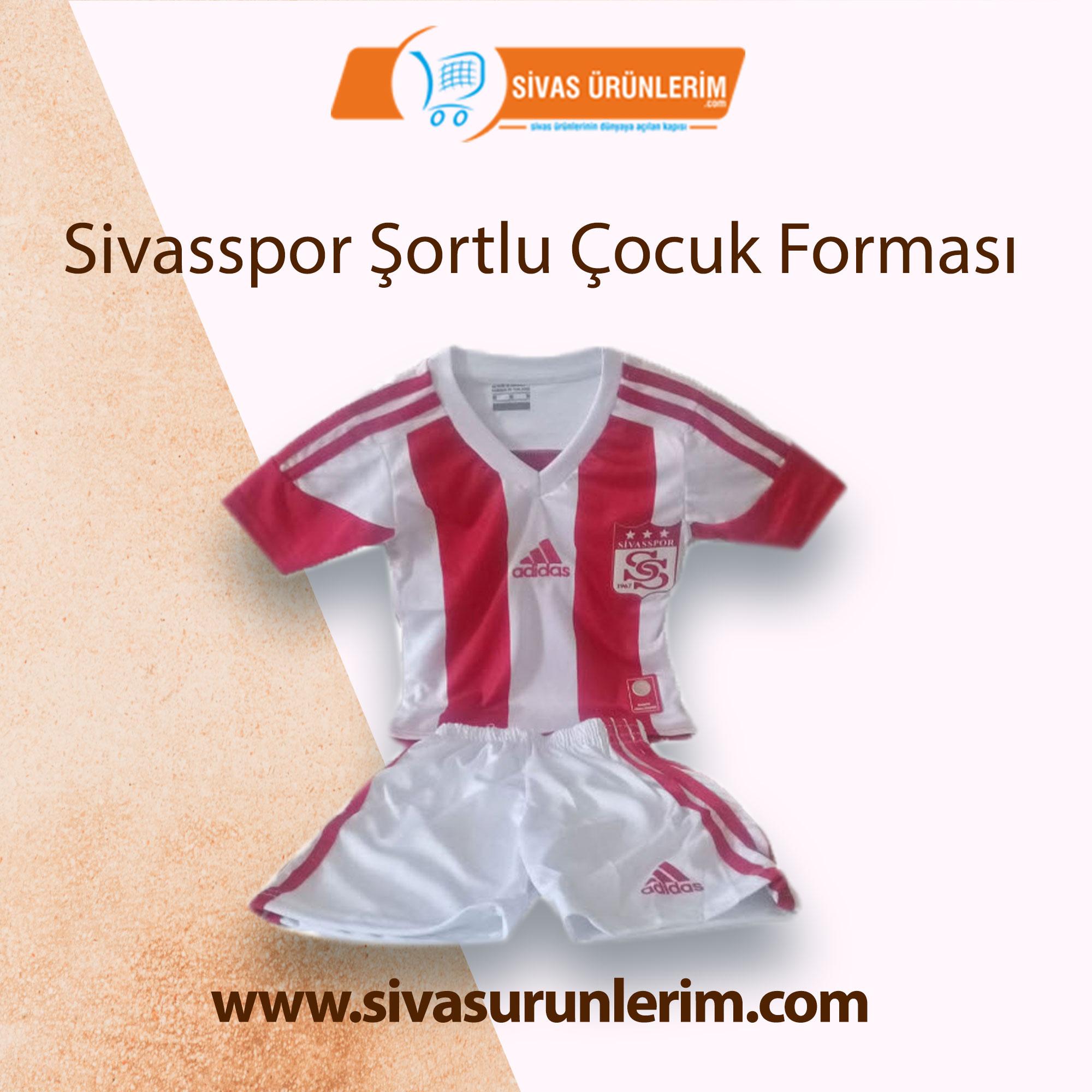 Sivasspor Şortlu Çocuk Forması