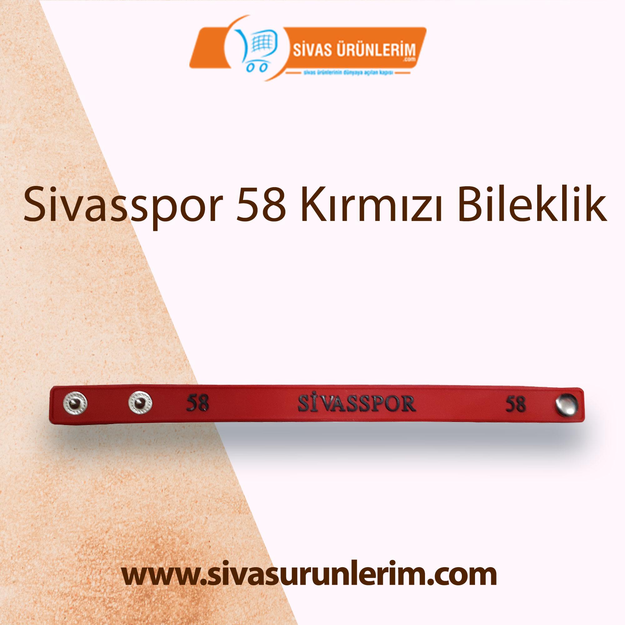 Sivasspor 58 Kırmızı Bileklik