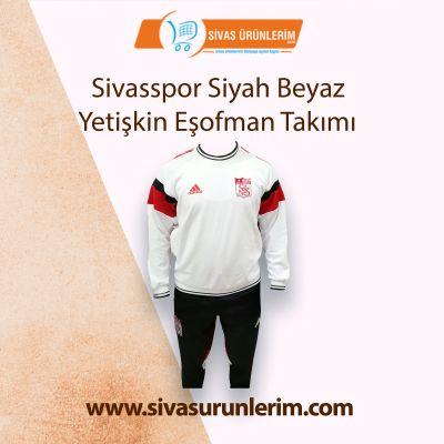 Sivasspor Siyah Beyaz Yetişkin Eşofman Takımı