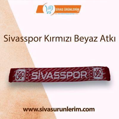 Sivasspor Kırmızı Beyaz Atkı