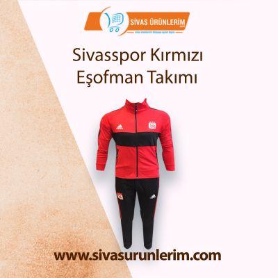 Sivasspor Kırmızı Eşofman Takımı