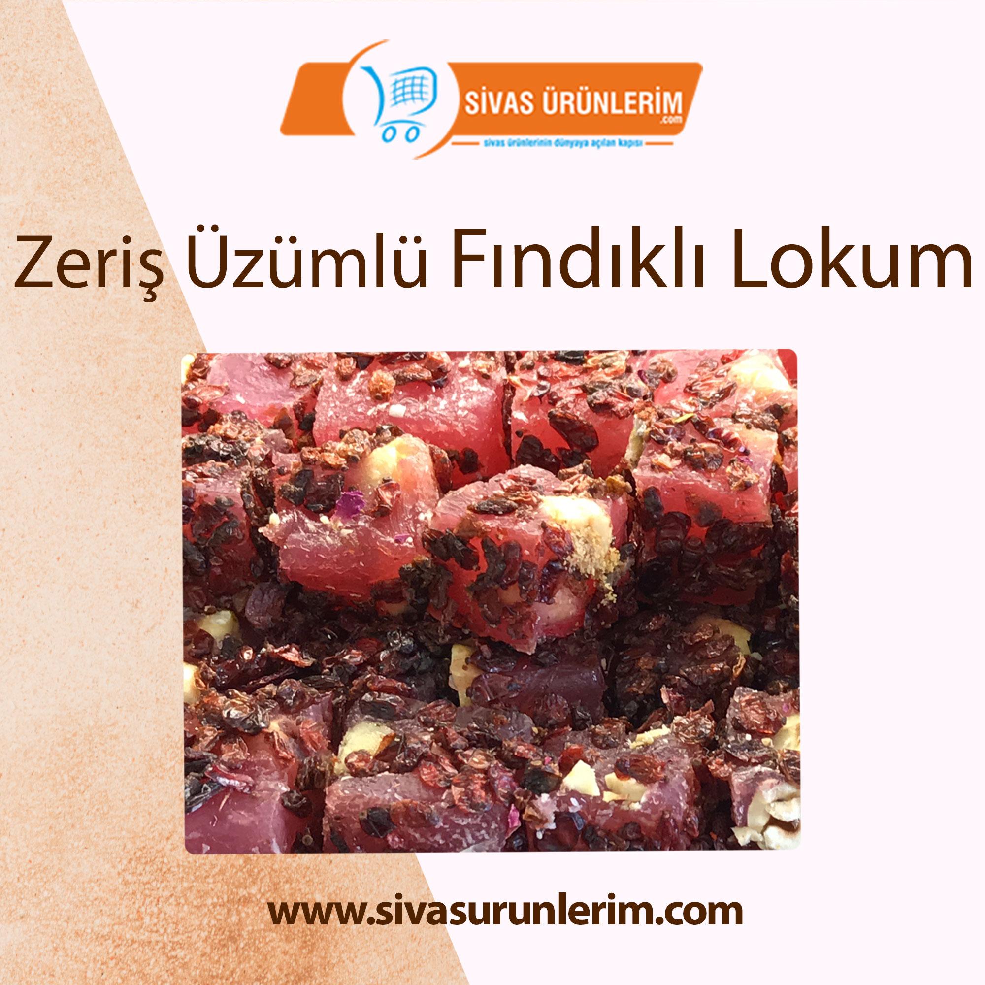 Zeriş Üzümlü Fındıklı Lokum